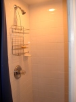 Basement tile shower