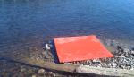 Red dock on rightside